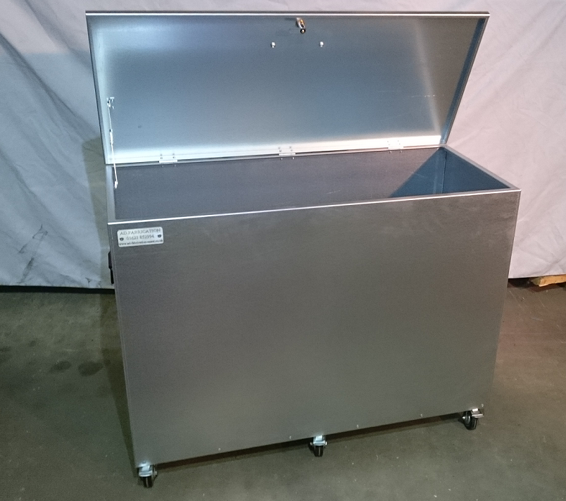 Mobile Extra Large Single Compartment, Galvanised Storage Container